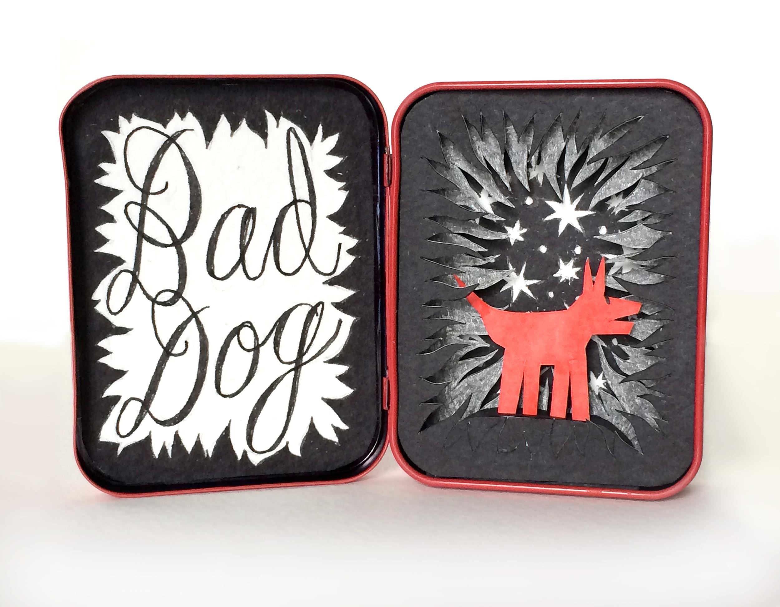 "bad dog 3"" x 5"""