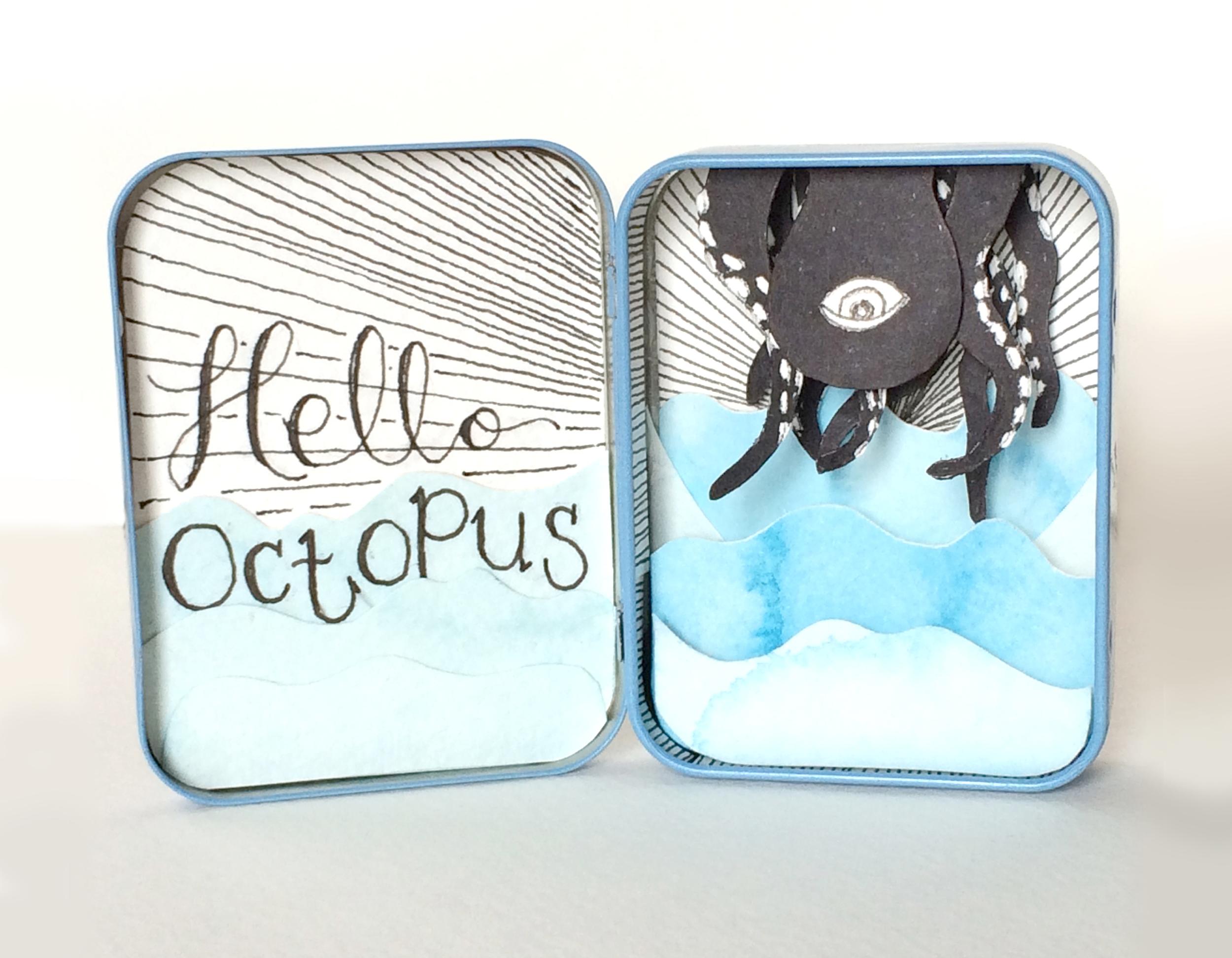 """hello octopus 3"""" x 5"""""""