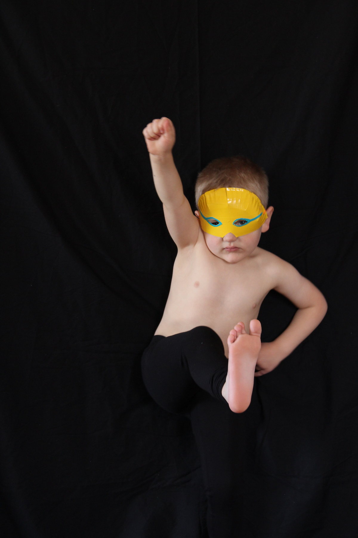 Easy DIY luchador masks with paper plates and duct tape