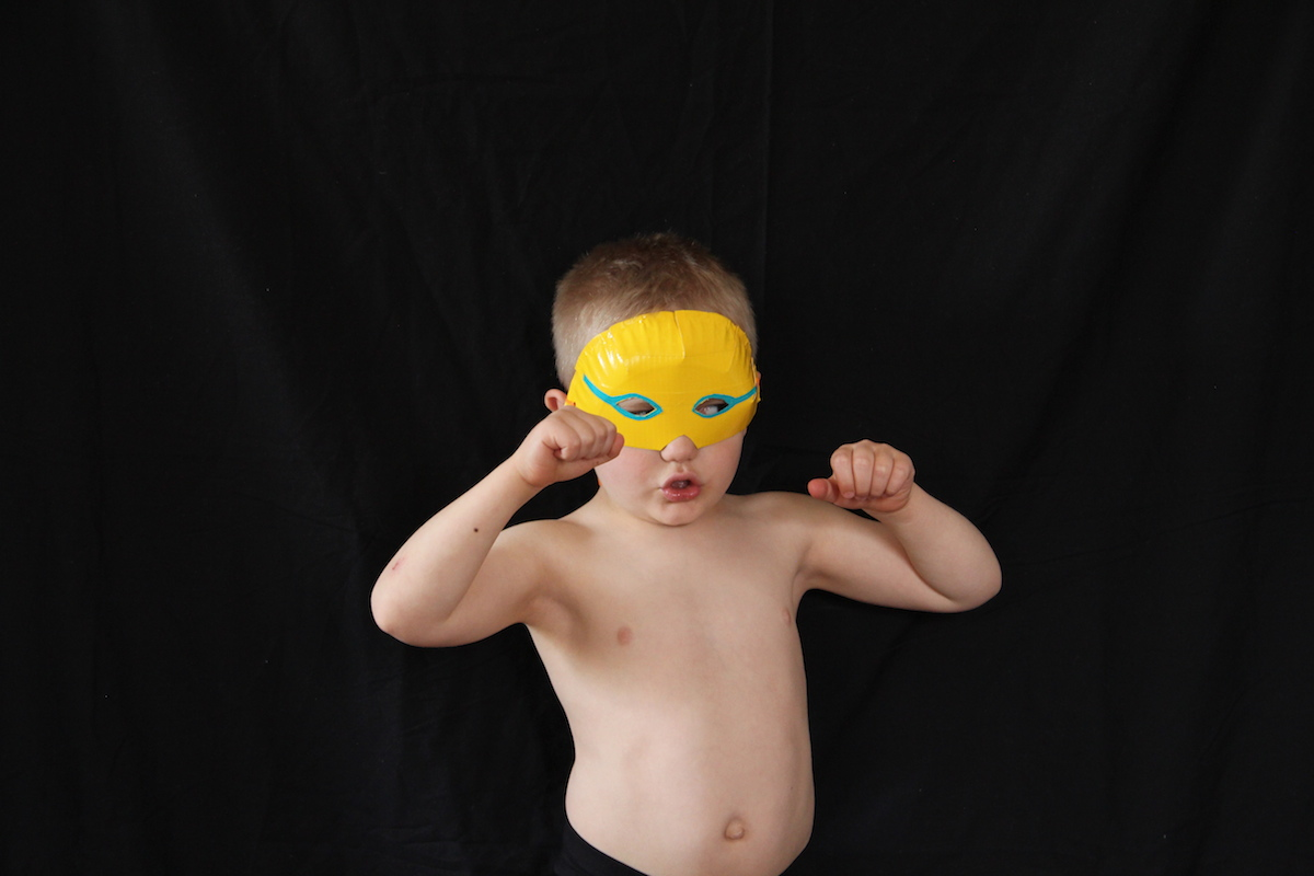 DIY luchador masks for kids
