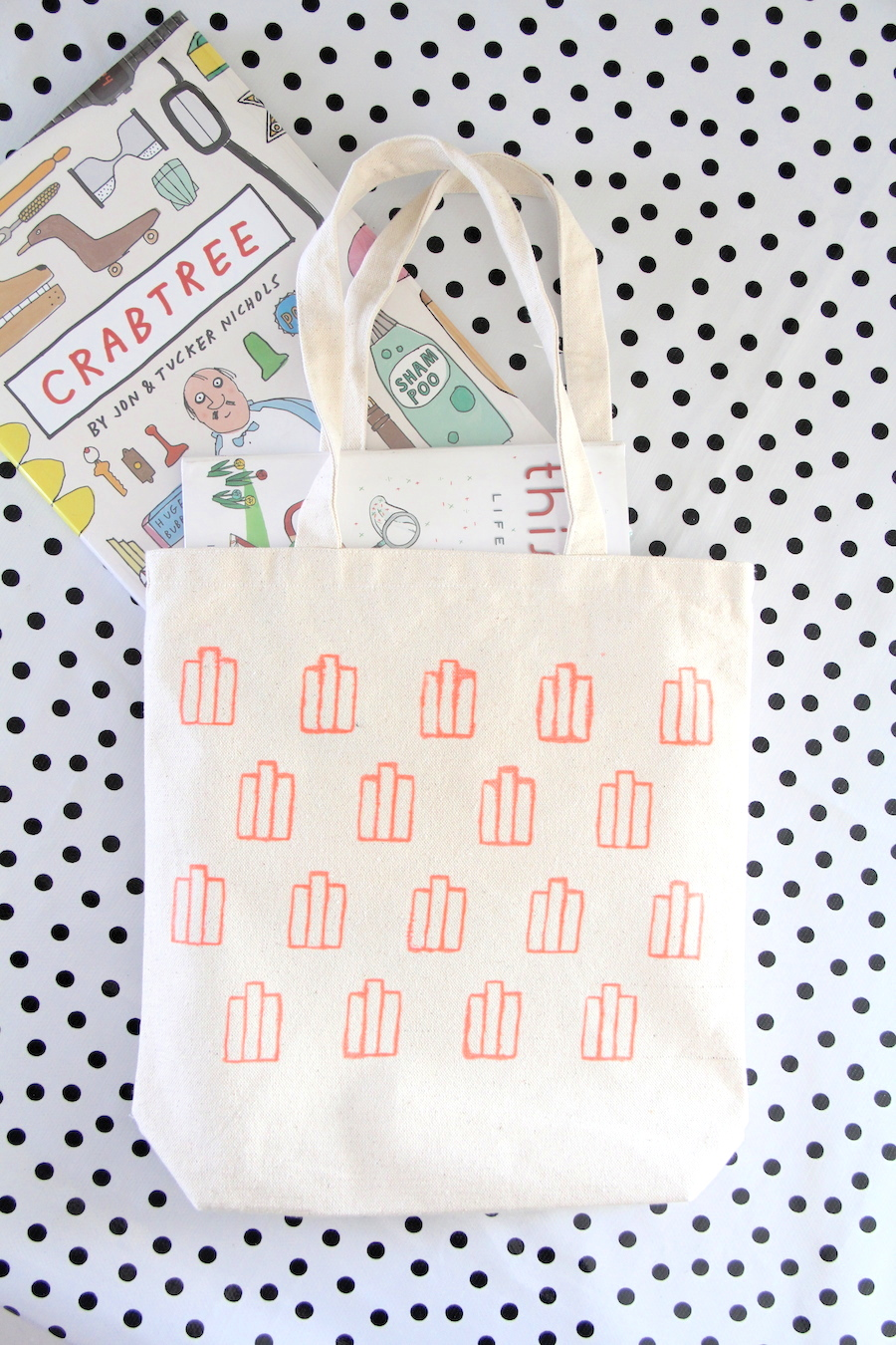 DIY library tote for kids