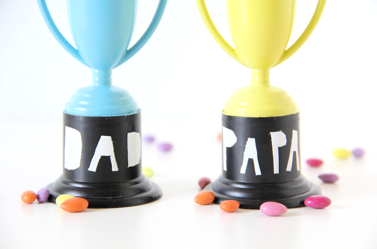 Father's day treat trophies