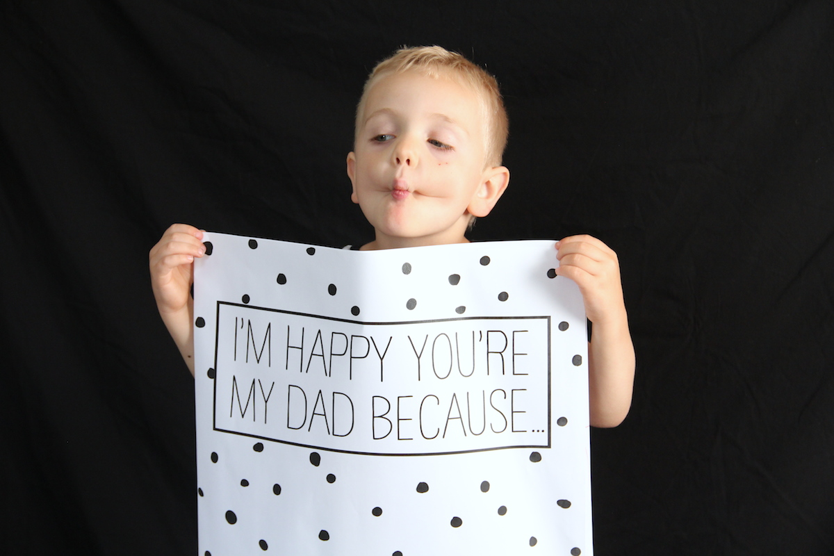 Giant Father's Day card printable