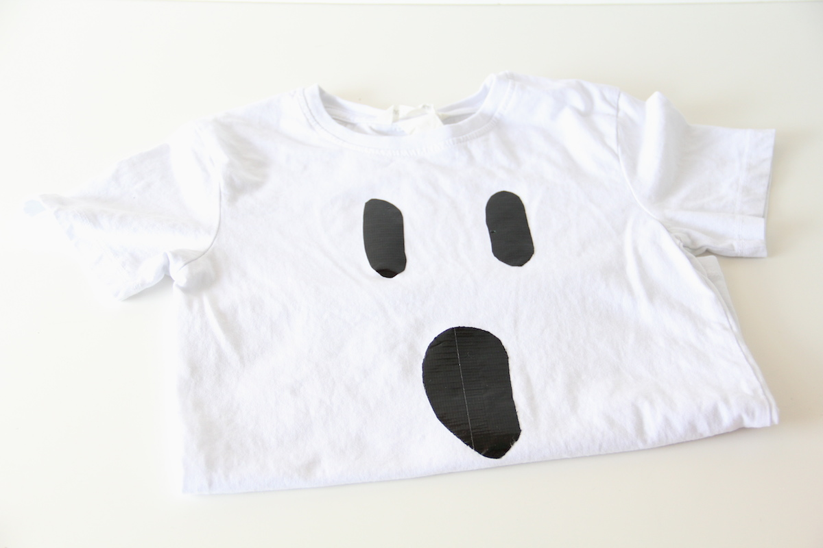 Duct tape ghost shirt DIY | And We Play