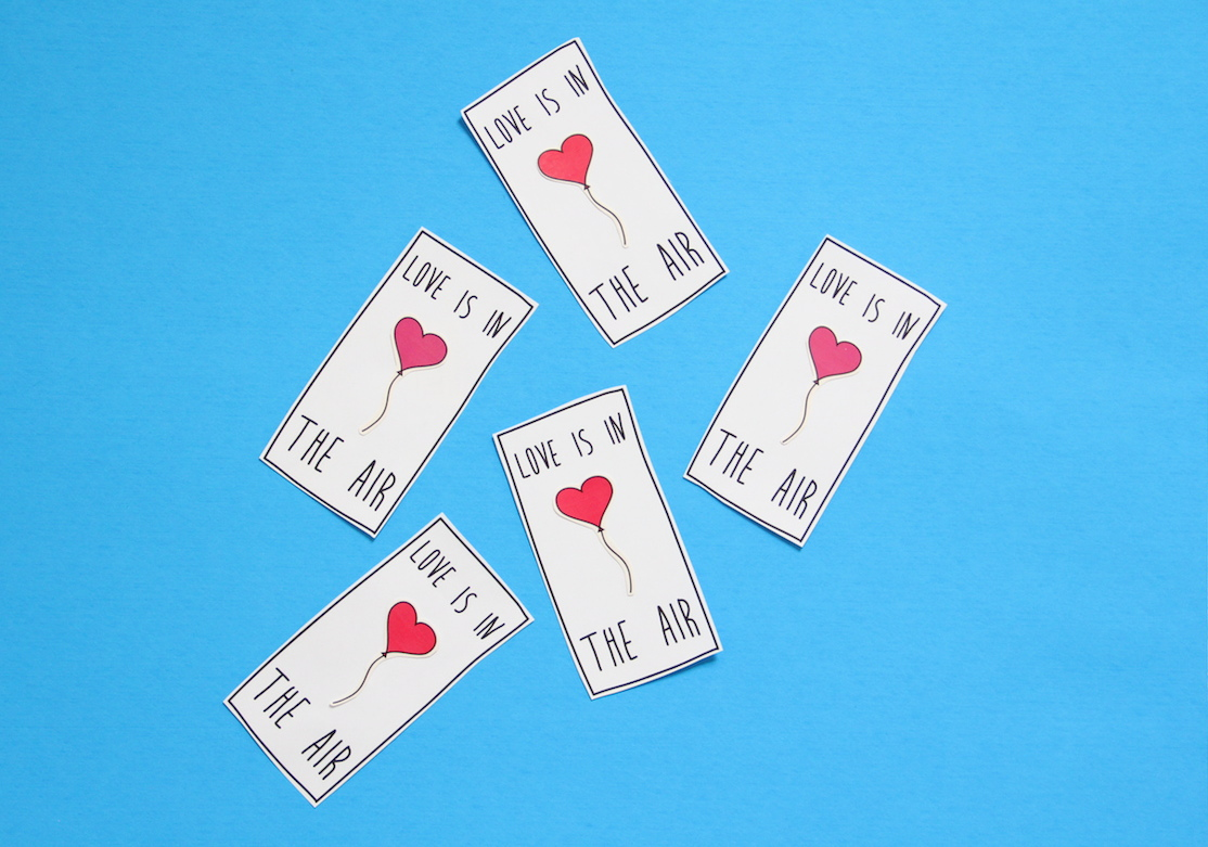 Printable valentine tattoos!   And We Play