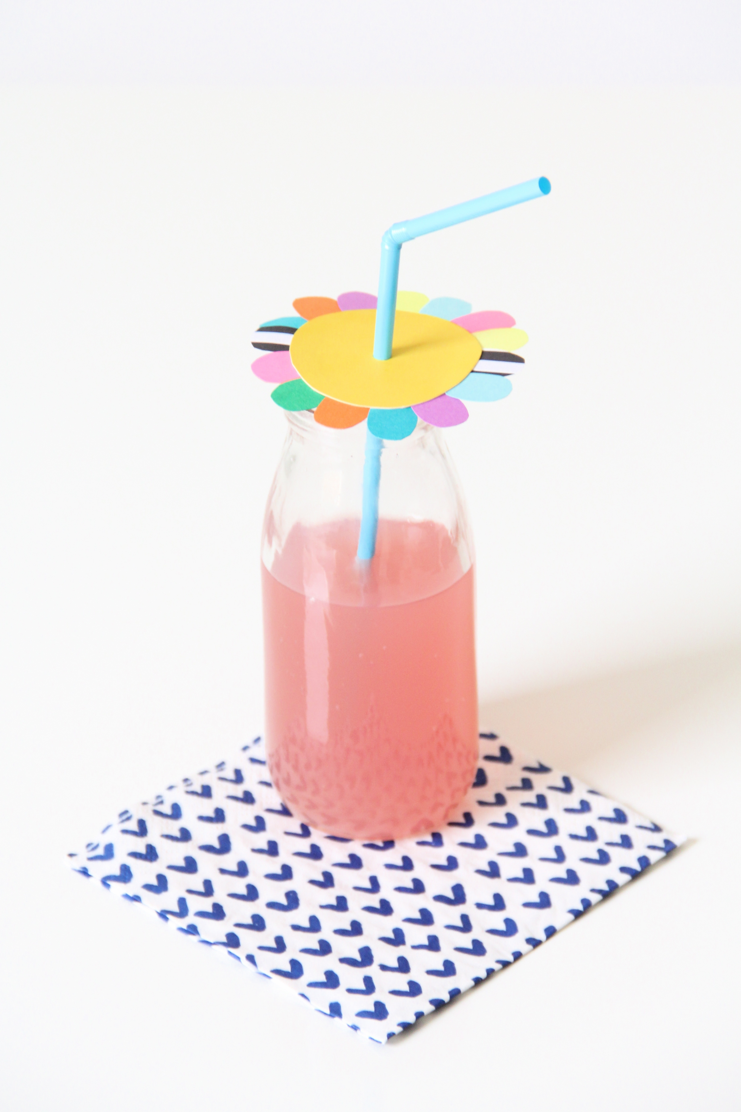 Flower party straw project in Good Housekeeping!