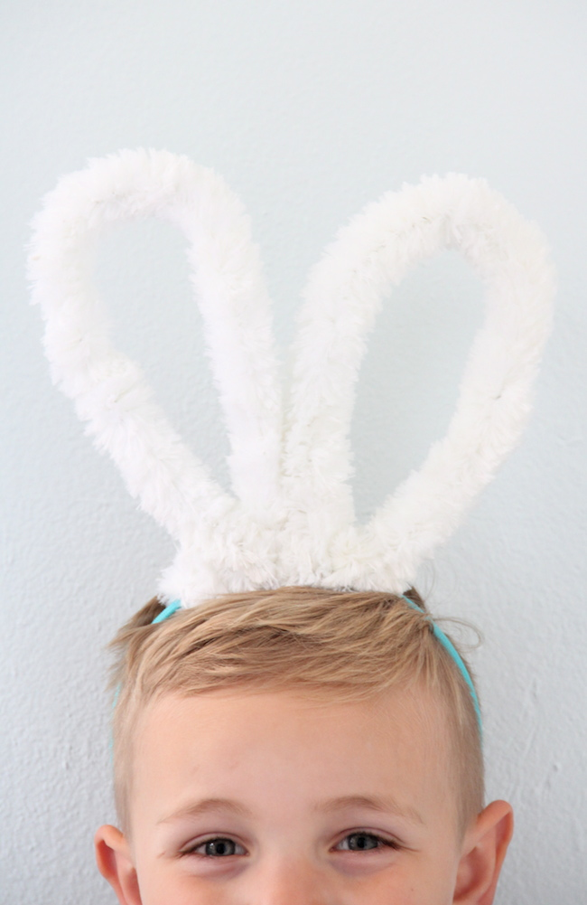 Bunny ears and tail DIY   And We Play