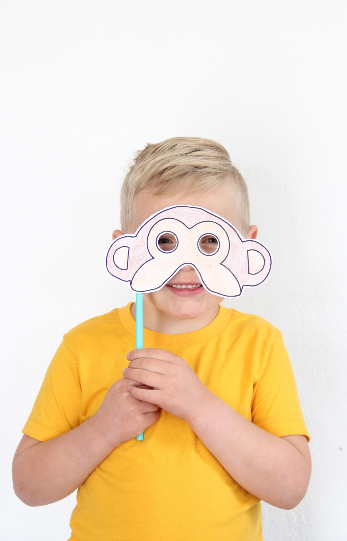 Monkey masks with download