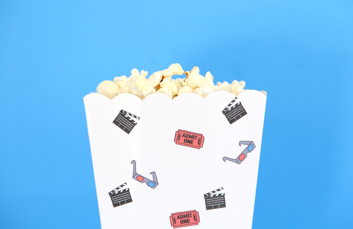 Movie night stickers with free printable! | And We Play