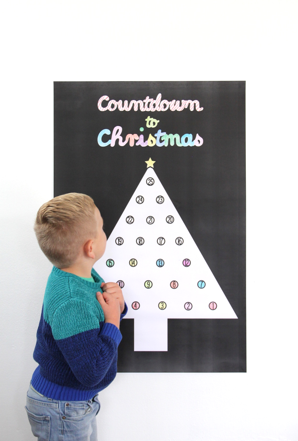 Printable advent calendar poster! | And We Play