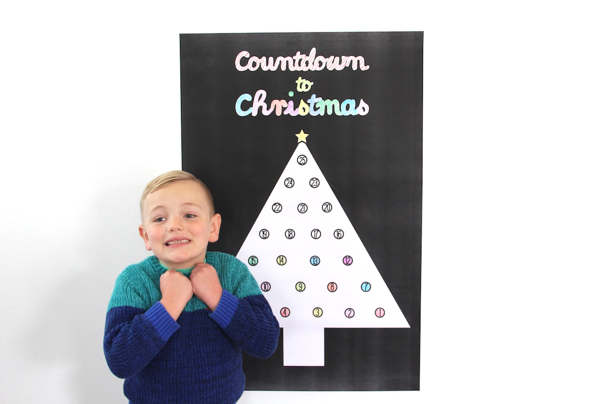 Printable advent calendar poster | And We Play