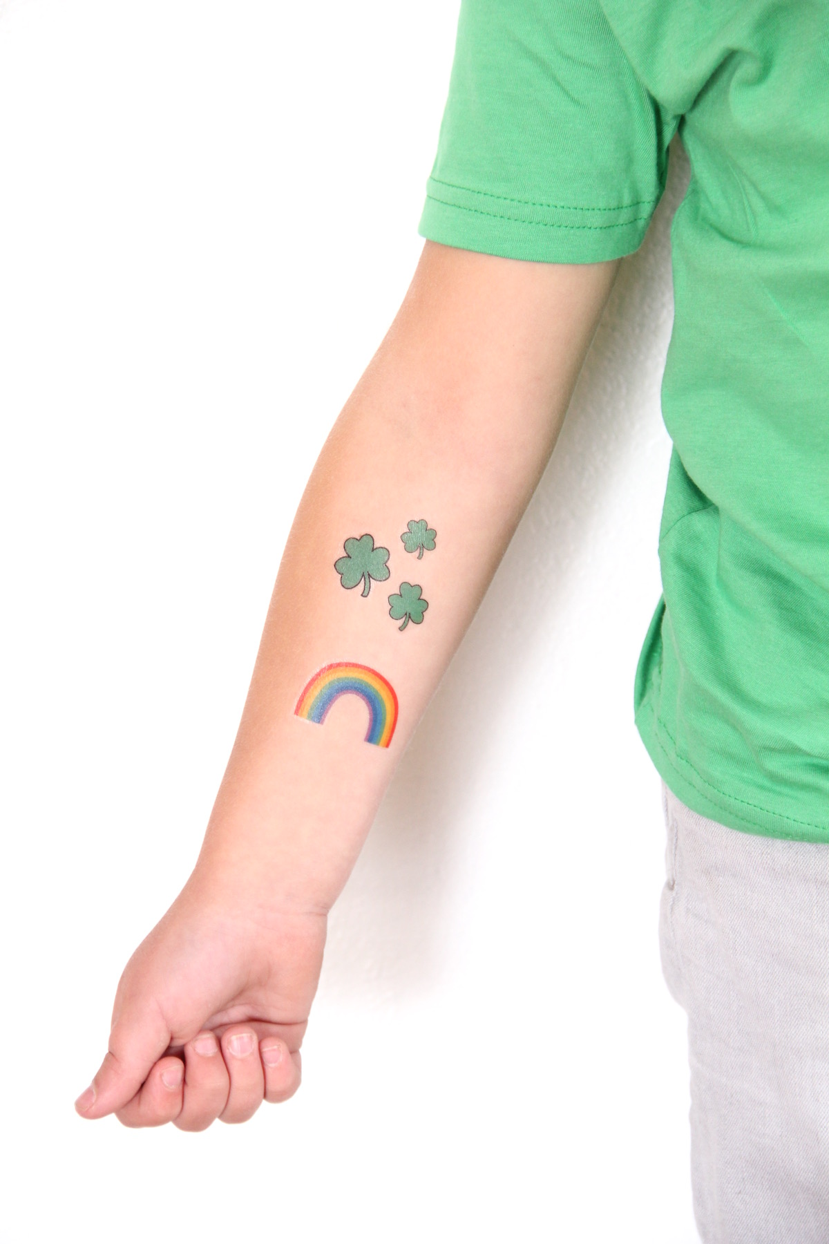 Printable St. Patrick's Day temporary tattoos (click through for download!)