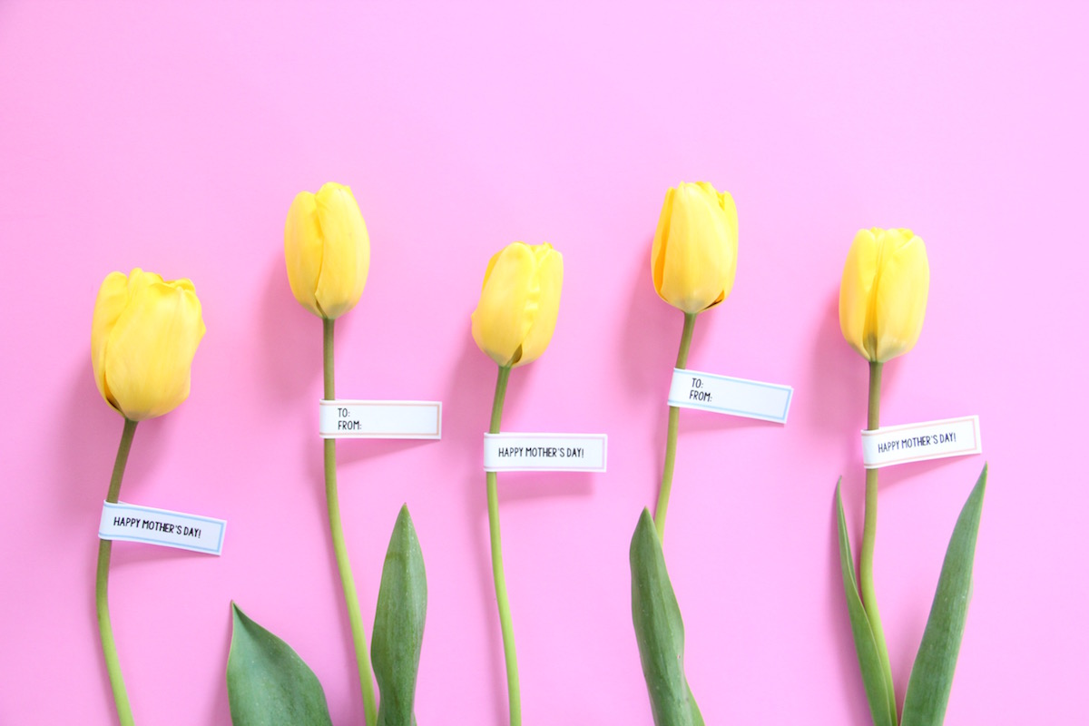 Printable Flower Tags For Mother's Day | And We Play