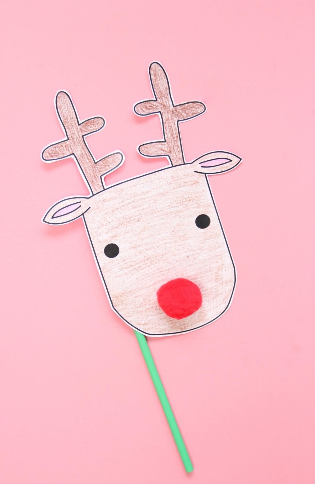 image regarding Printable Reindeer called PRINTABLE REINDEER MASKS And We Engage in
