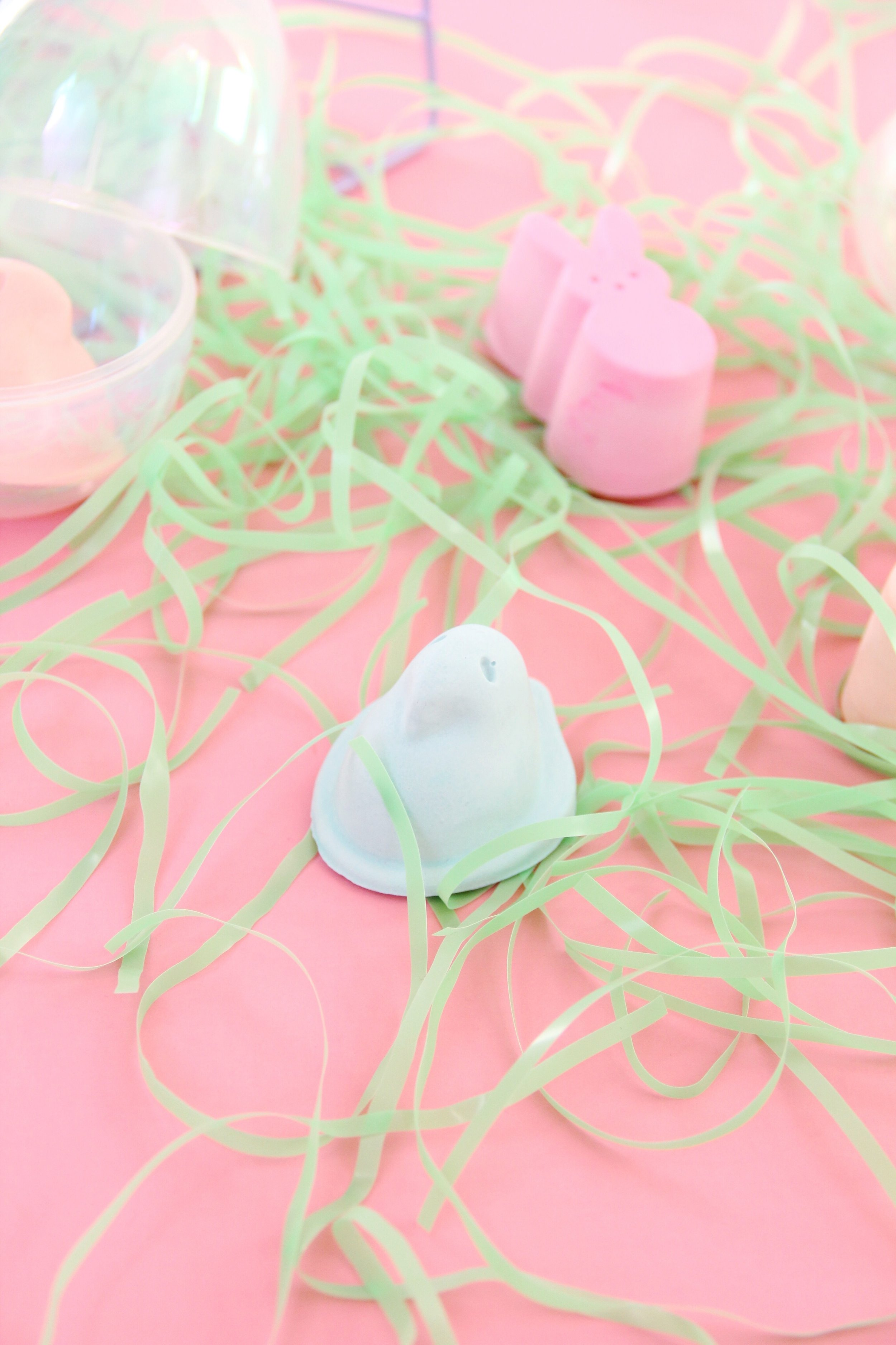 Easy DIY Peep Chalk for Easter!   And We Play