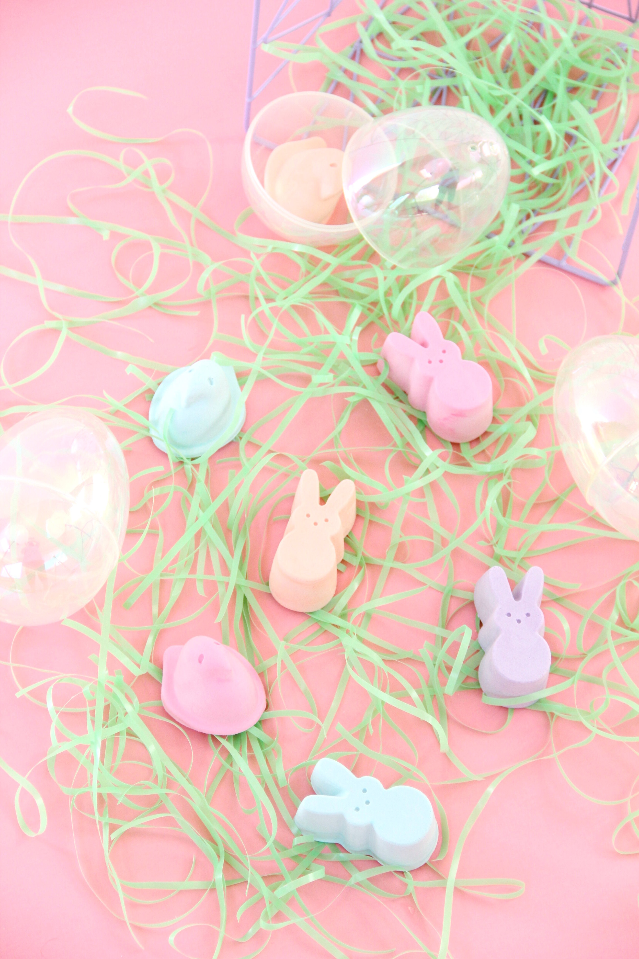 Easy DIY Peep Chalk for Easter! | And We Play