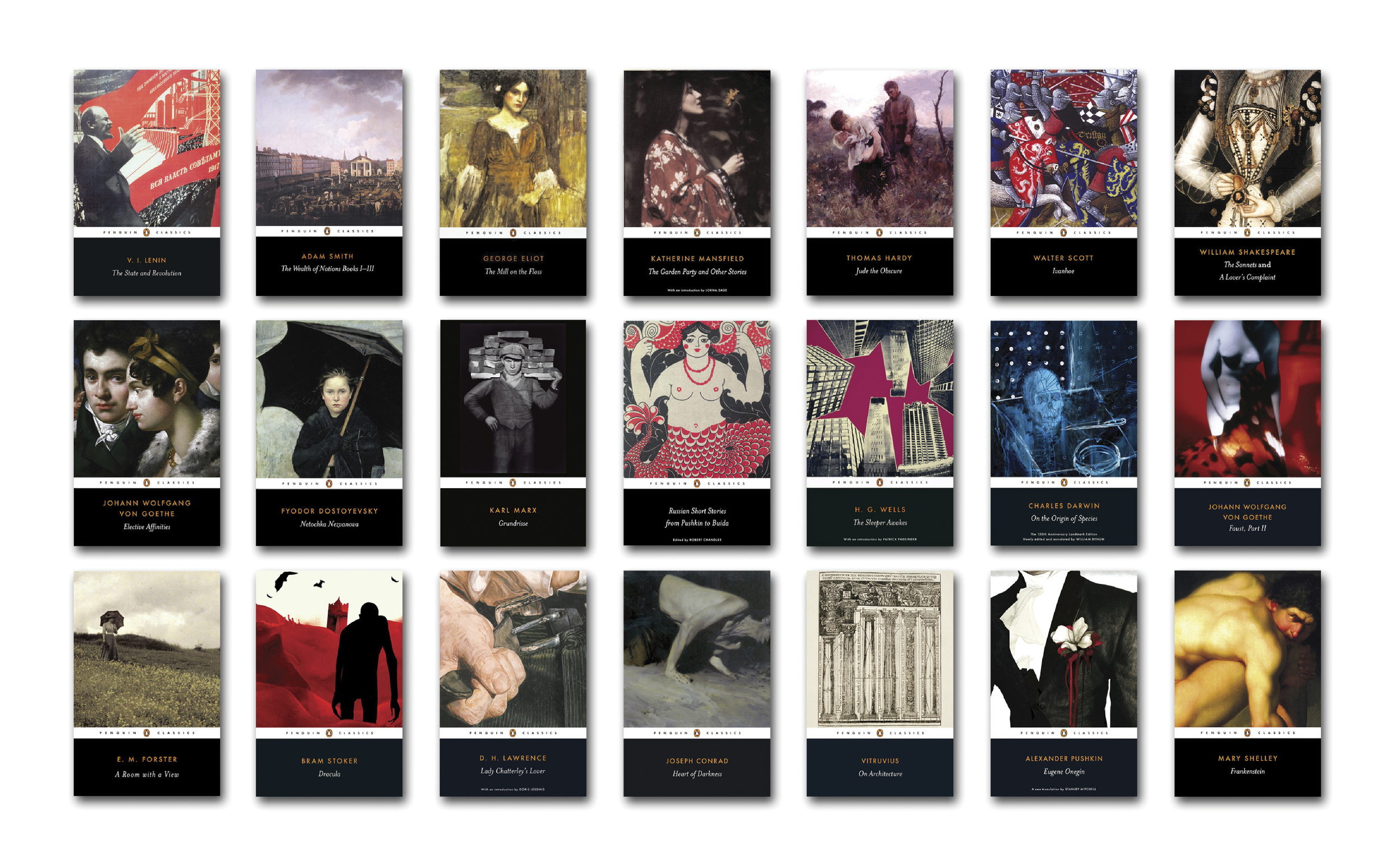 Penguin Classics 'Black' series template  - Art Direction:  Jim Stoddart Design & concept: Angus Hyland/Pentagram Typography: Paul Buckley Picture Research: Samantha Johnson Isabelle De Cat Artworking: Arran Elvidge