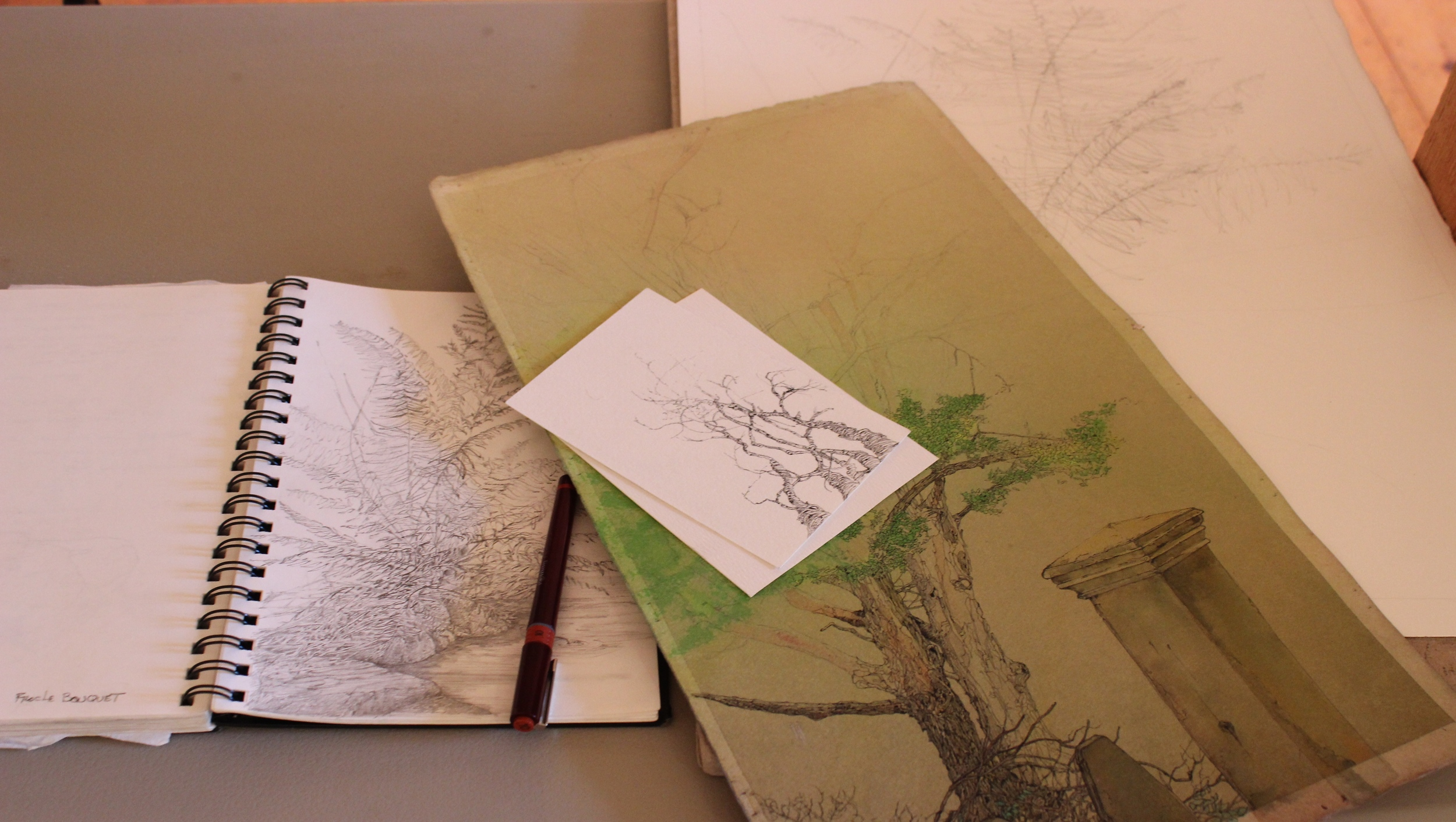 I'm obsessed with tree sketchings. (check out my  Instagram )  Harald Aksdal  had beautiful pieces.