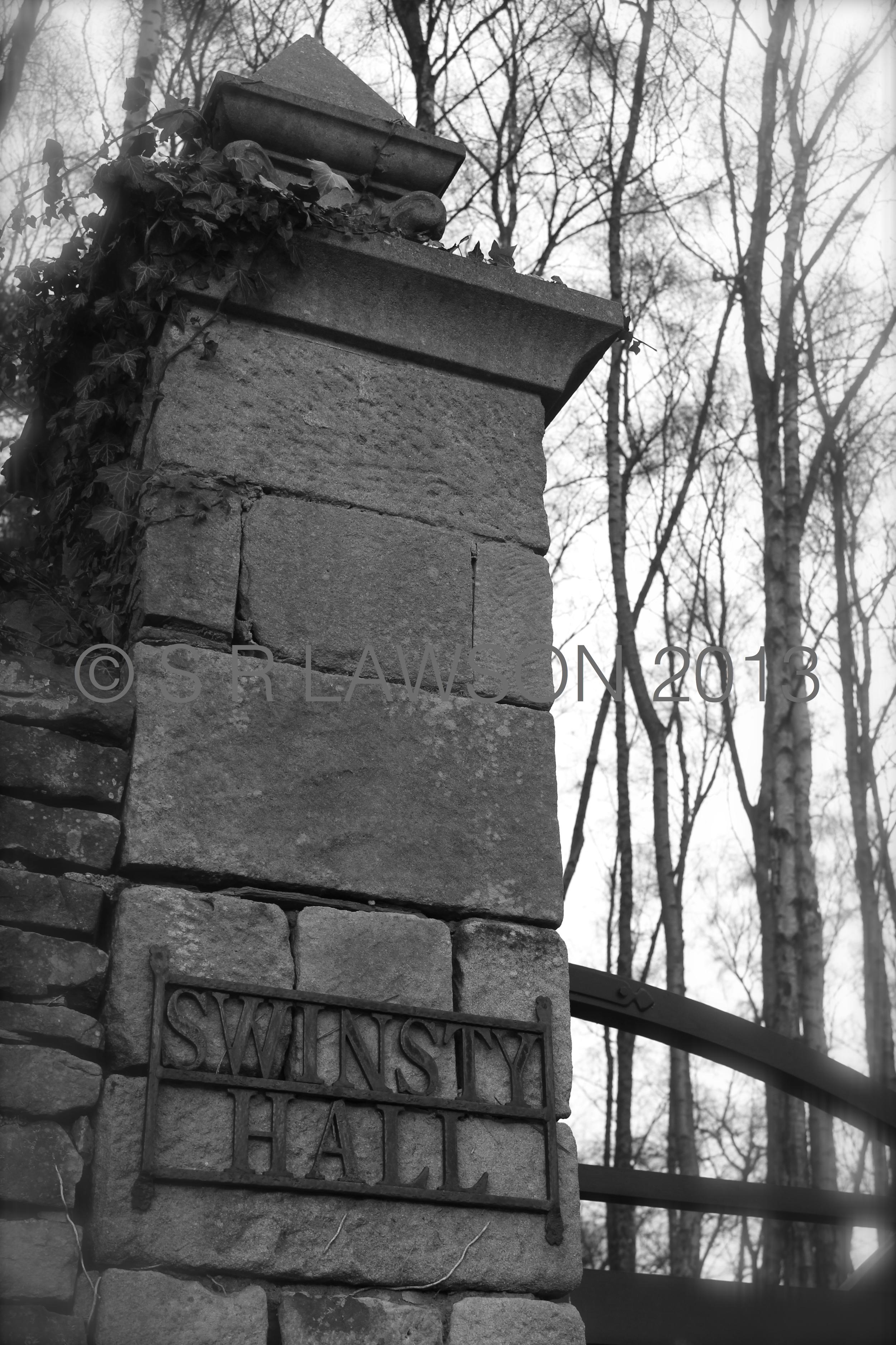 Swinsty Hall Gatepost