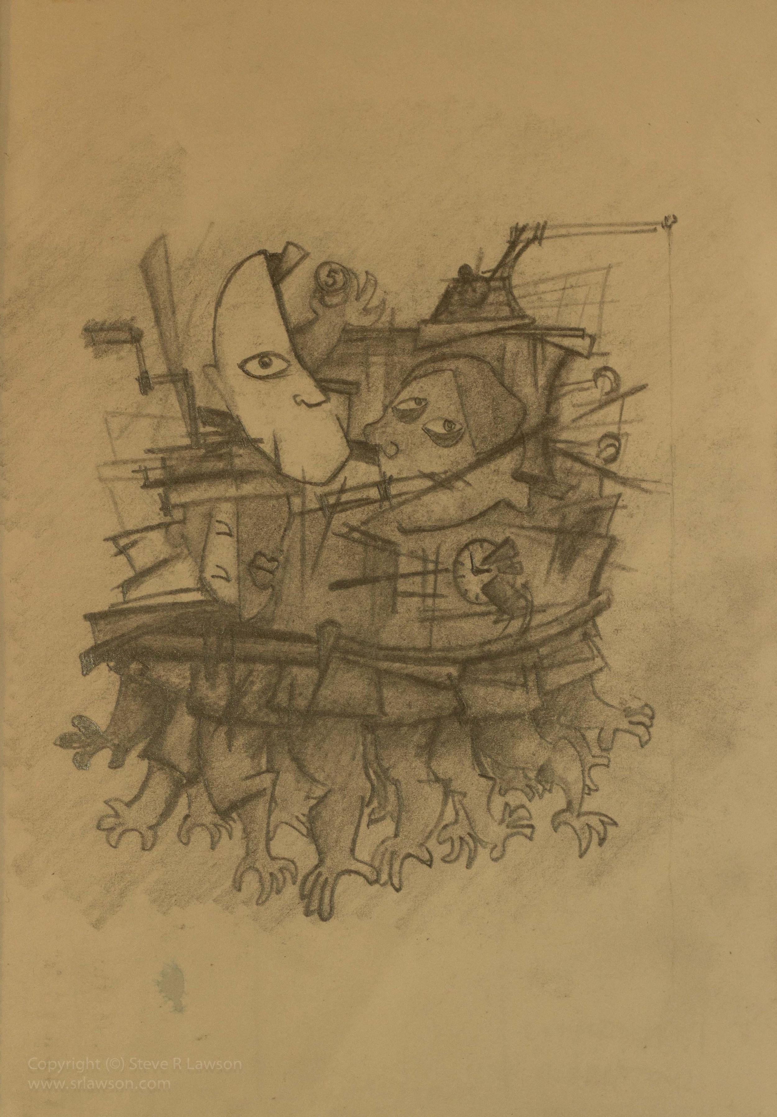 Sketch for Hands of Power II