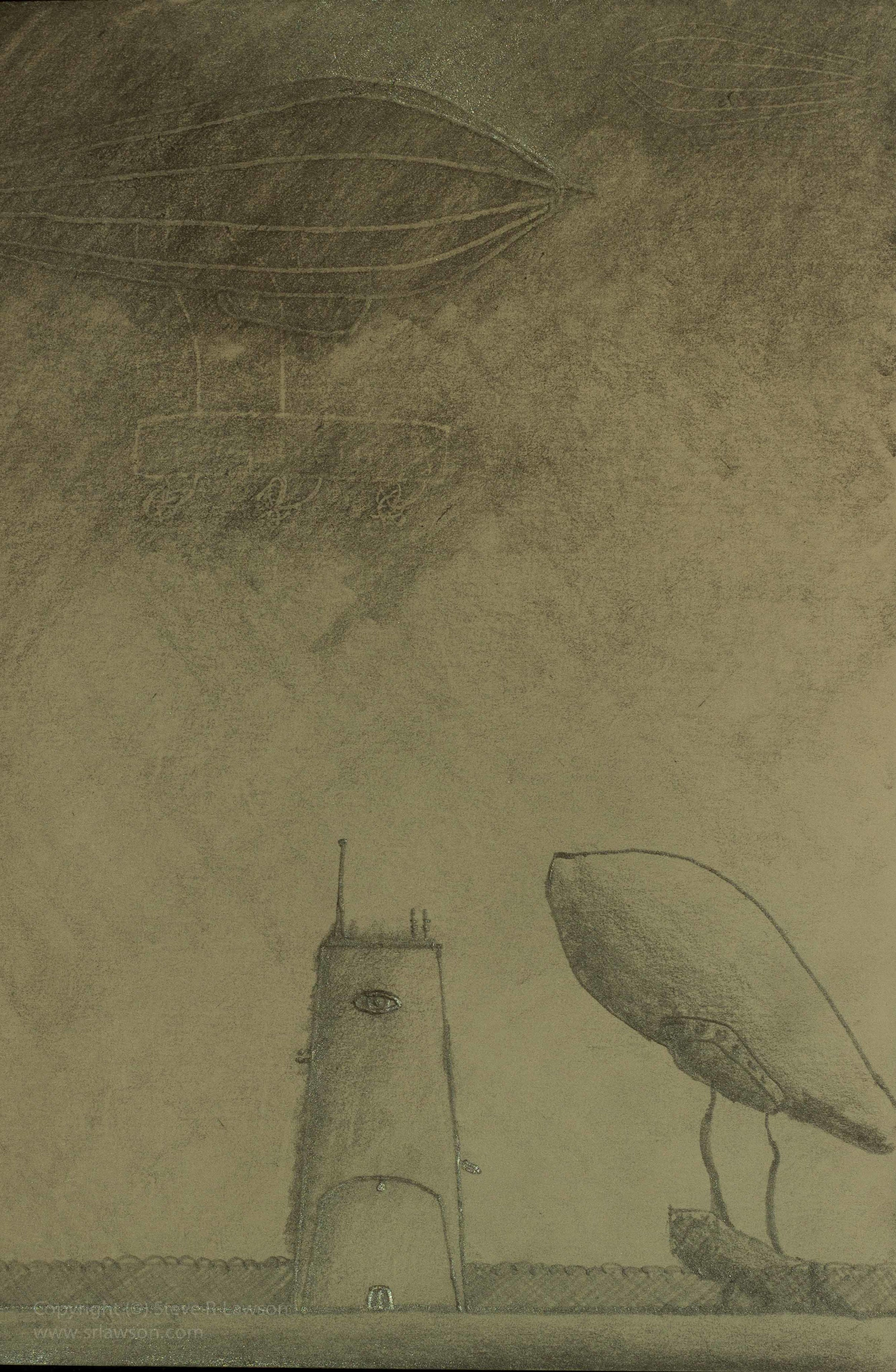 Sketch of Two Zeppelins