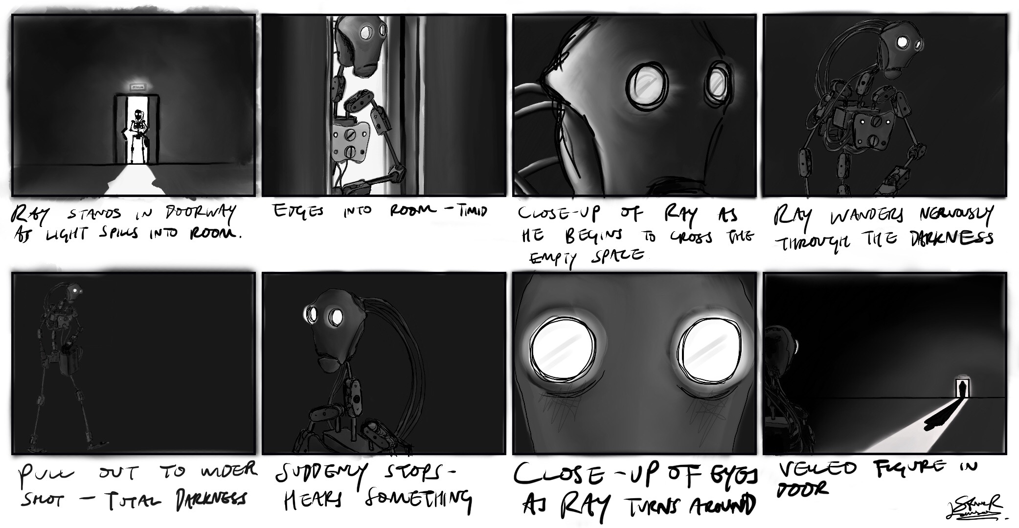Storyboard for 'Ray II'