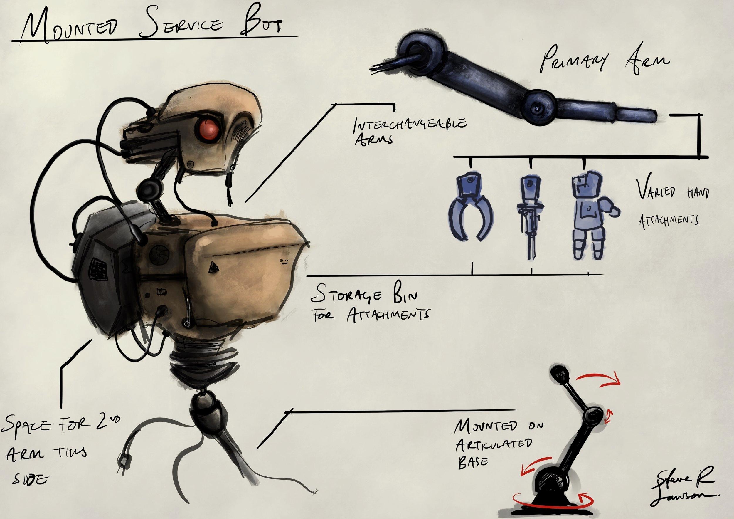 Mounted Service Bot
