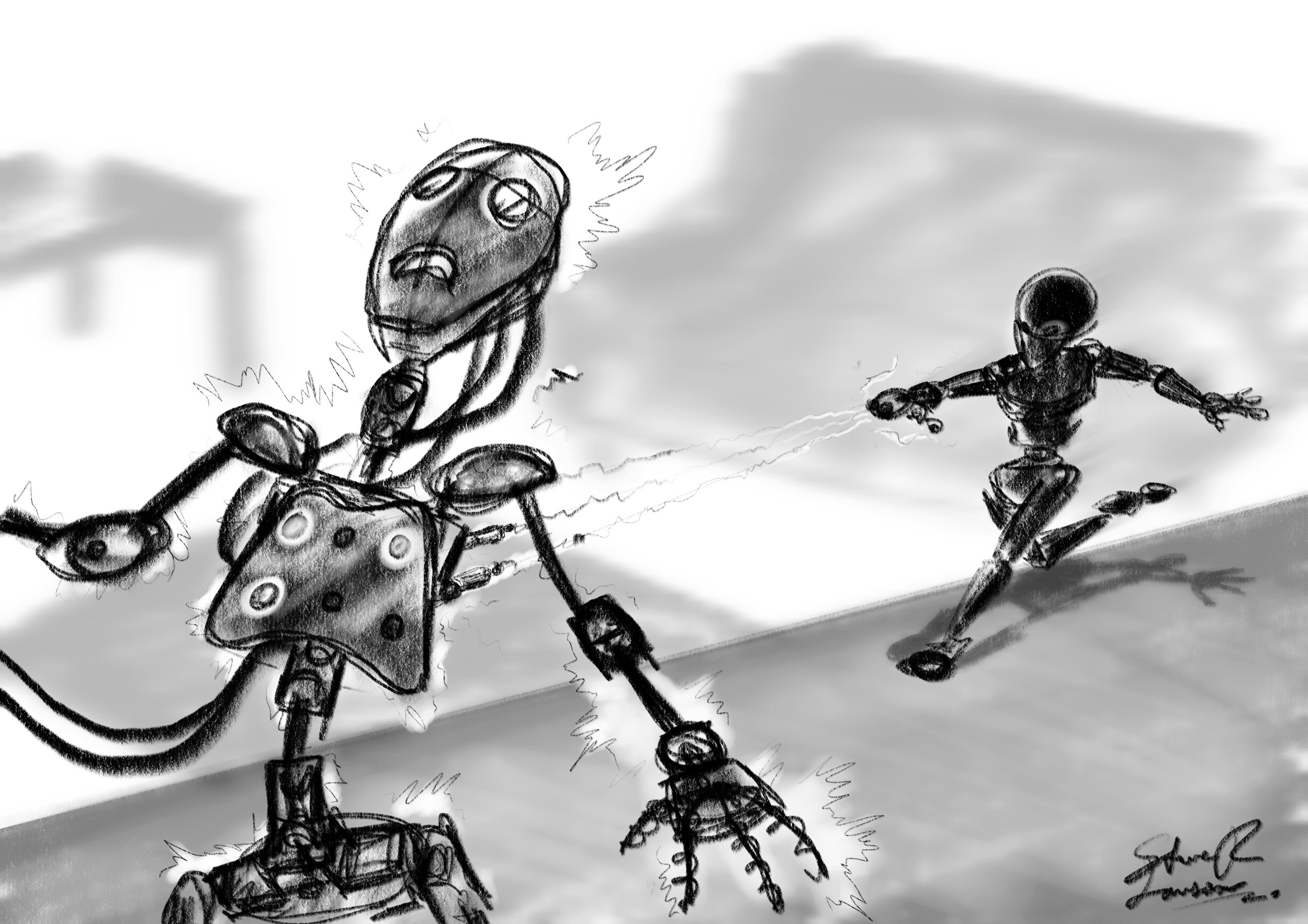 Chase Sequence - Sketch