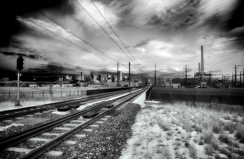 """""""Denver Sunset"""" Black and White"""