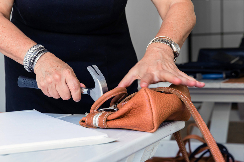 MARIA CASTELLI IS WELL DESIGNED, WELL MADE -  Our handbags reflect our passion for designs that go beyond fashion trends. Each piece is meticulously crafted from beginning to end in a small NYC workshop using top grain leathers and high-quality skins from the best tanneries in the world.