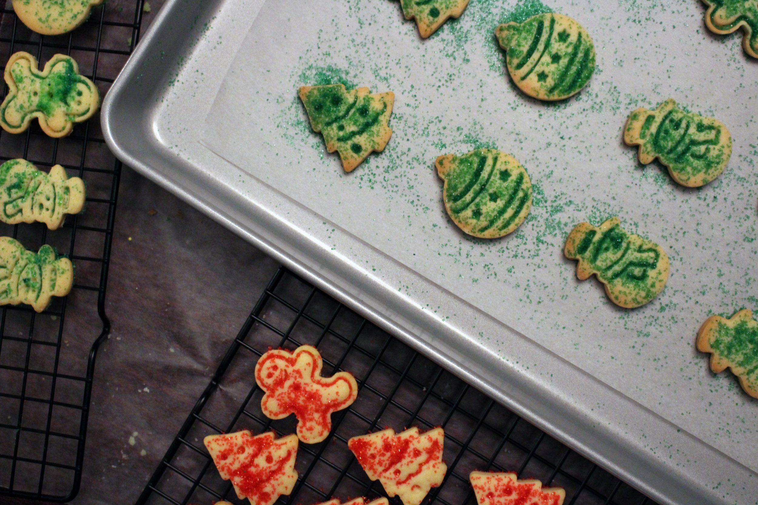 green sprinkle on pan with racks.jpg