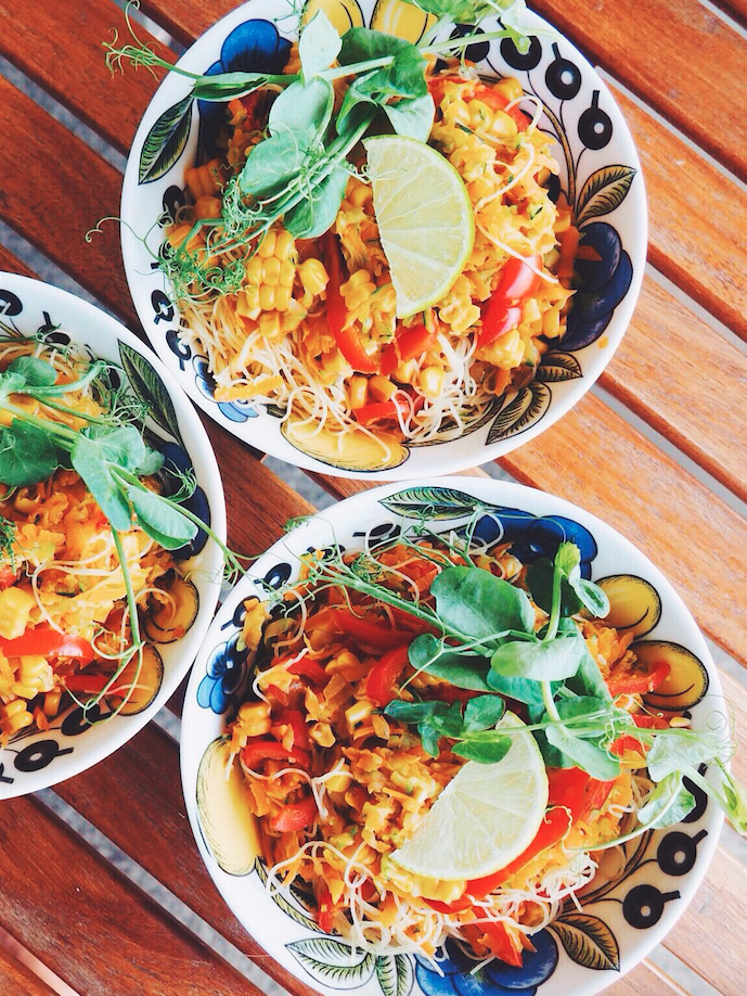 Vegan Rainbow Pad Thai