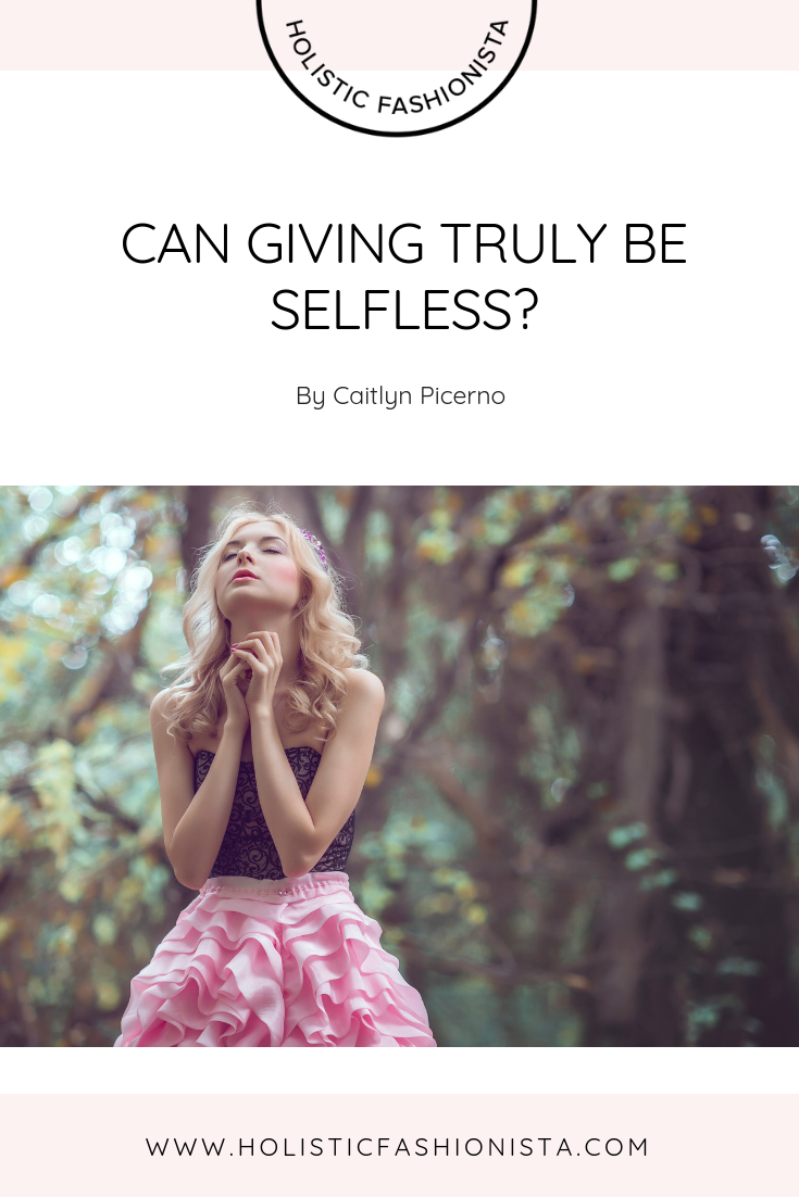 Can Giving Be Truly Selfless?