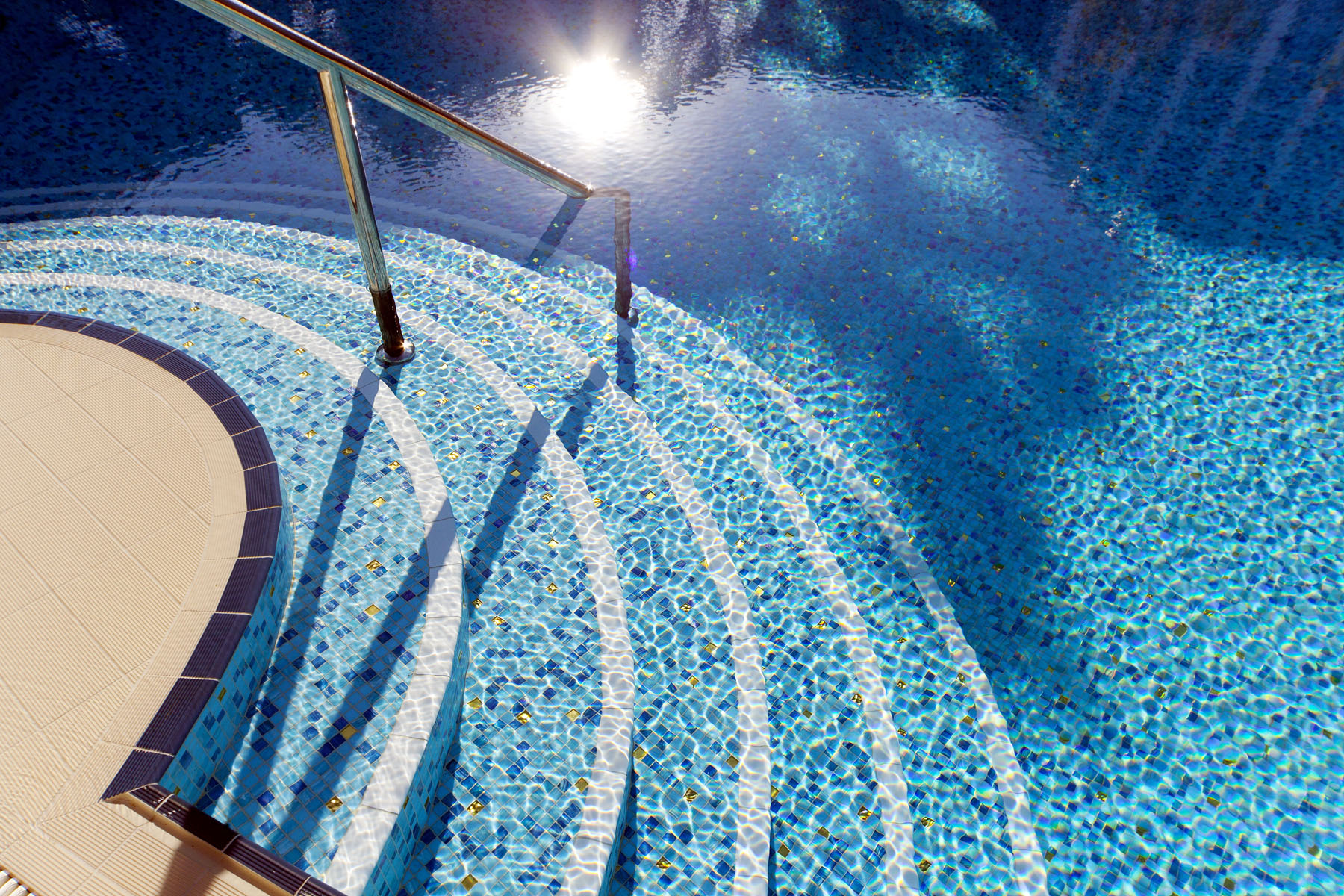 Glass Pool Tiles from Trend.