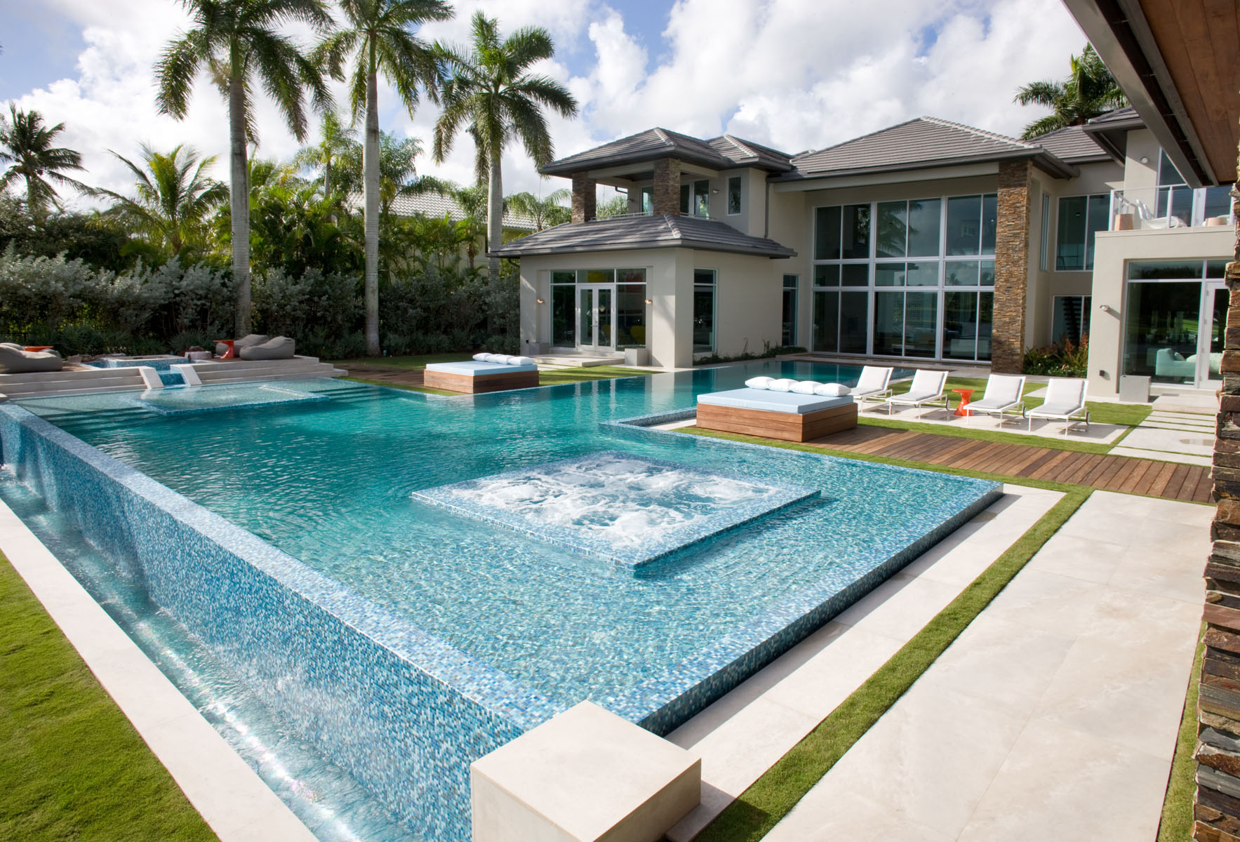 Glass Pool Tiles from Trend