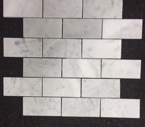 300x300 sheet CARRARA Marble in 30x100 brick