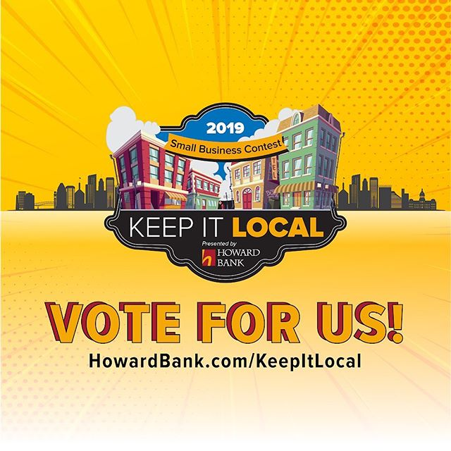Today is the final day of voting in the first round of Howard Bank's 2019 Keep It Local Small Business Contest! We would appreciate your support and vote so we can move to the final voting round! Thanks for your help! You can vote here: https://www.howardbank.com/KeepItLocal