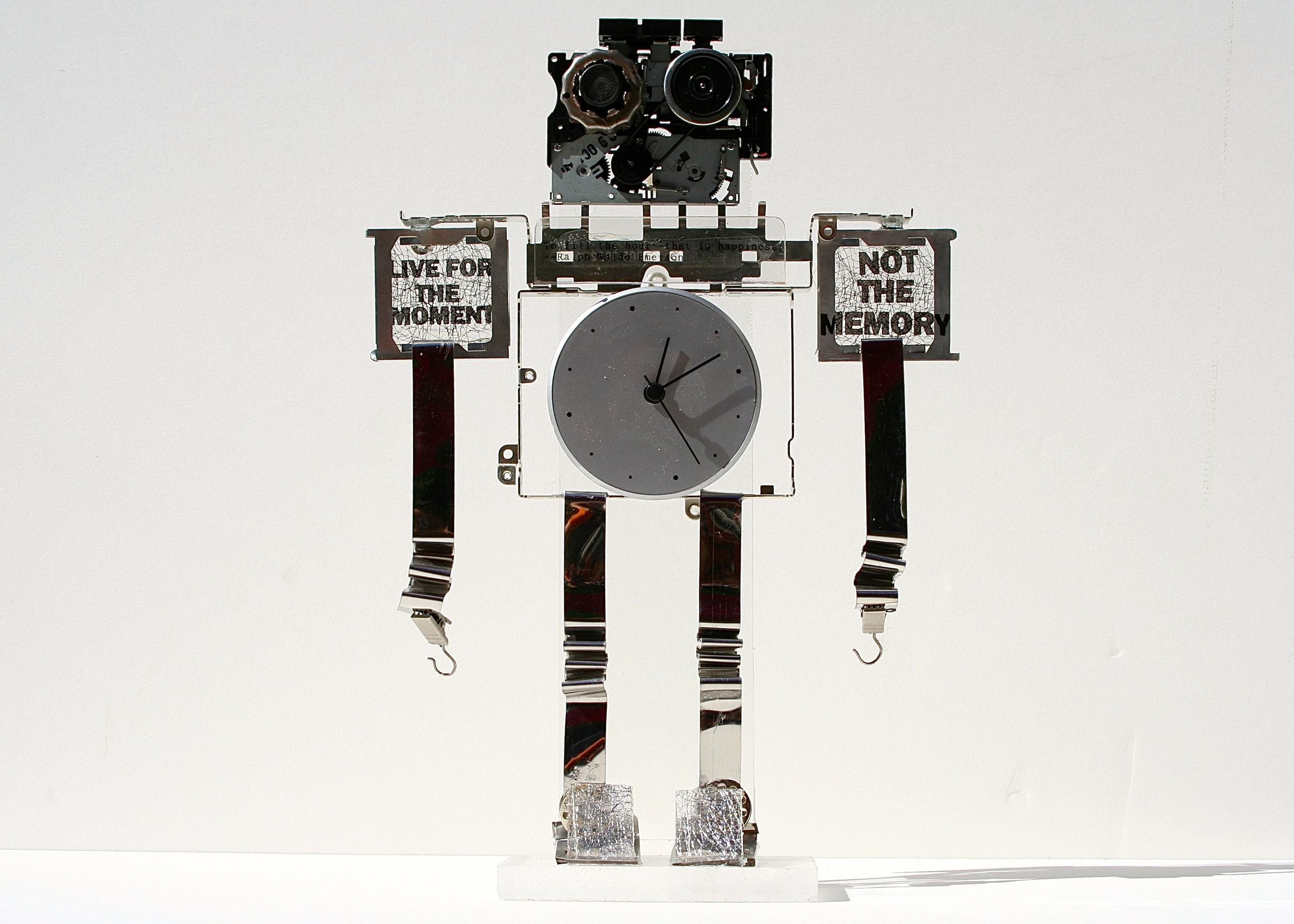 Memory Bot - 10 inch - mixed media