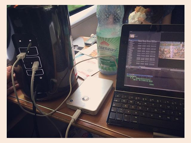 #MacPro + #iPad + #DuetDisplay + #Stylus + #Train + #FCPX = #NeverBeenDoneBefore #FirstManOnTheMoon