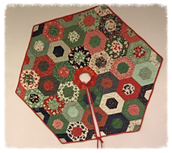 Jelly roll Christmas Tree Skirt