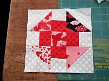 Stitched together:  the 72  leftover corners from your  XOXO quilt are enough HST to make 18 Churn dash blocks! (You'll need to use additional fabric for your center squares and side units.)  What are some blocks that you like to make with HSTs?  (comment below if you'd like to share your ideas) Thanks for reading! - Carol