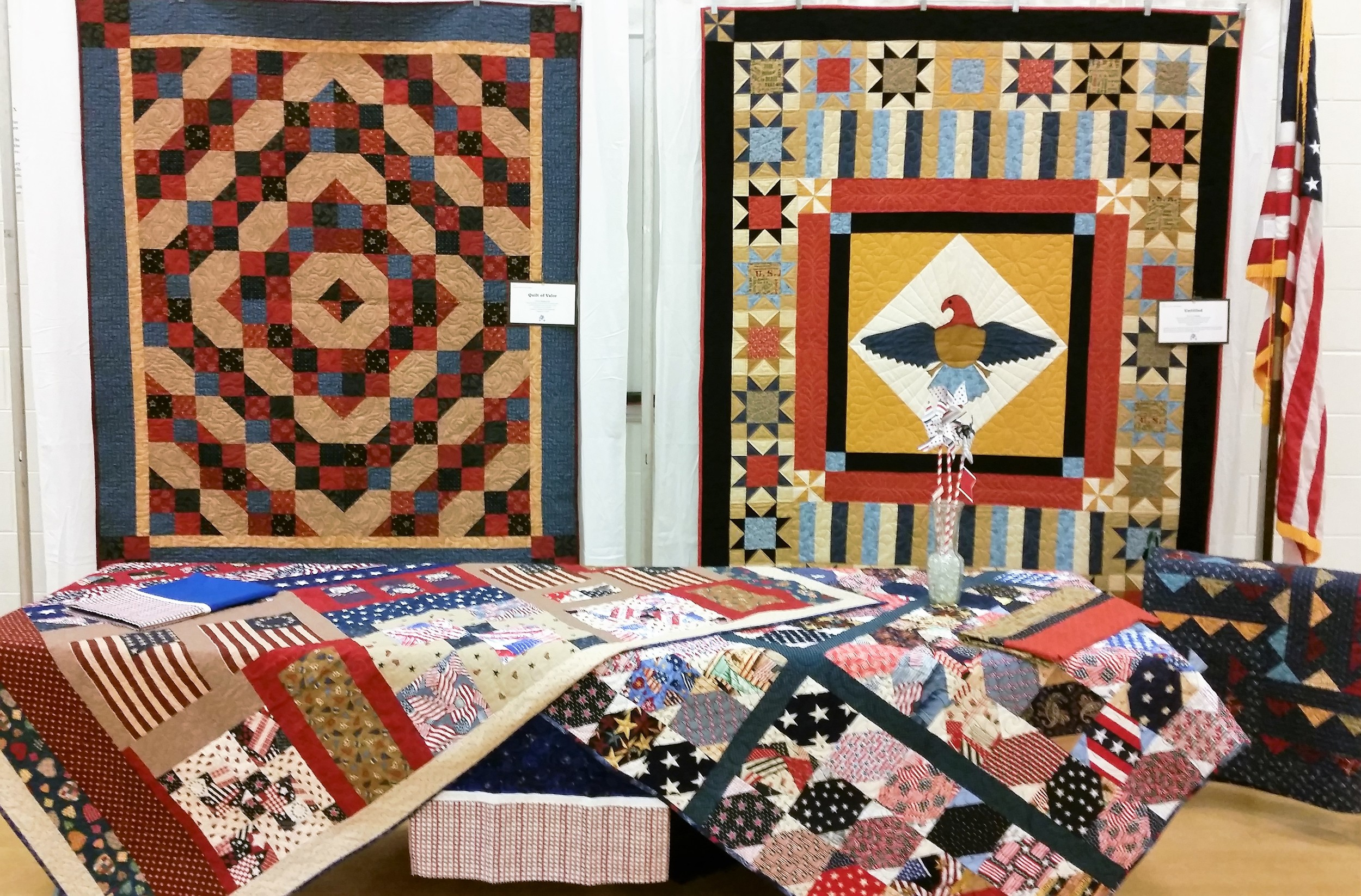 Quilts of Valor display