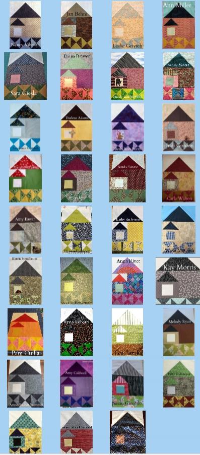 Quilt - A- Long participants Block 4 photo share.
