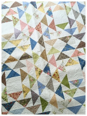 Frivol #4 Lakeland Quilt Kit - the prize for week 5. Yowza!  Get your free pattern, grab some fabric, get your stitch on then share a photo of your block with me for a chance to win the kit to make this pretty quilt