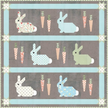 Cottontail quilt with grey Grunge background
