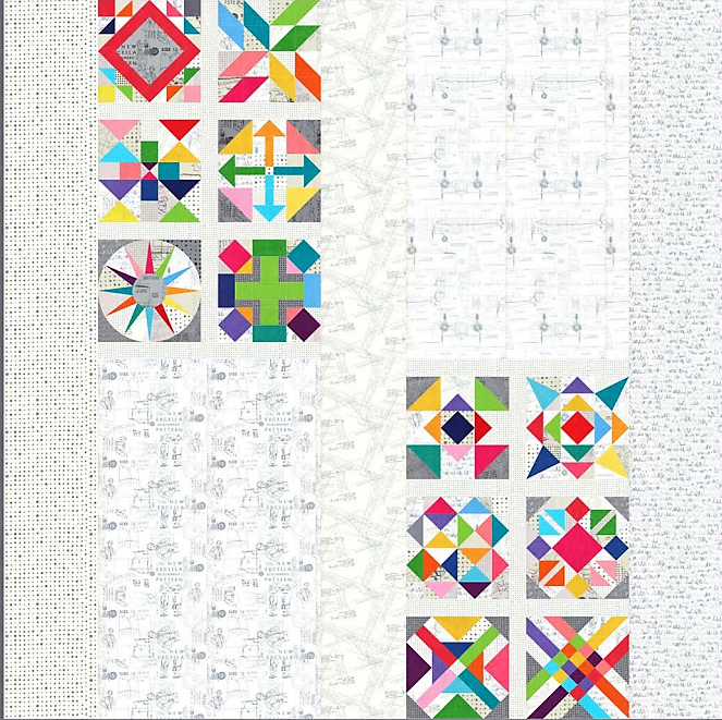 Spotted • More Paper - FULL KIT ONLYFABRIC COLLECTIONS: SPOTTED AND MODERN BACKGROUNDS MORE PAPER BY ZEN CHIC FOR MODA FABRICSQUILT PATTERN DESIGNED BY BRIGETTE HEITLAND OF ZEN CHIC