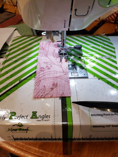 "The Clearly Perfect Angles cling works equally as well to guide your stitching on straight 1/4"" seams"