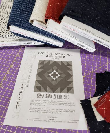 Five fabrics + a free pattern + me and my sewing machine= FUN!