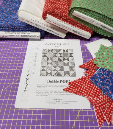 Fabrics I used in this block are a  Bella Solid , 9900 200, and prints from  1930's Favorites