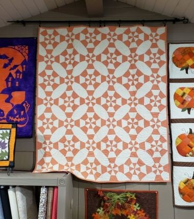 Next time we'll be sharing the project sheet to make our Candy Corn Kaleidoscope quilt.